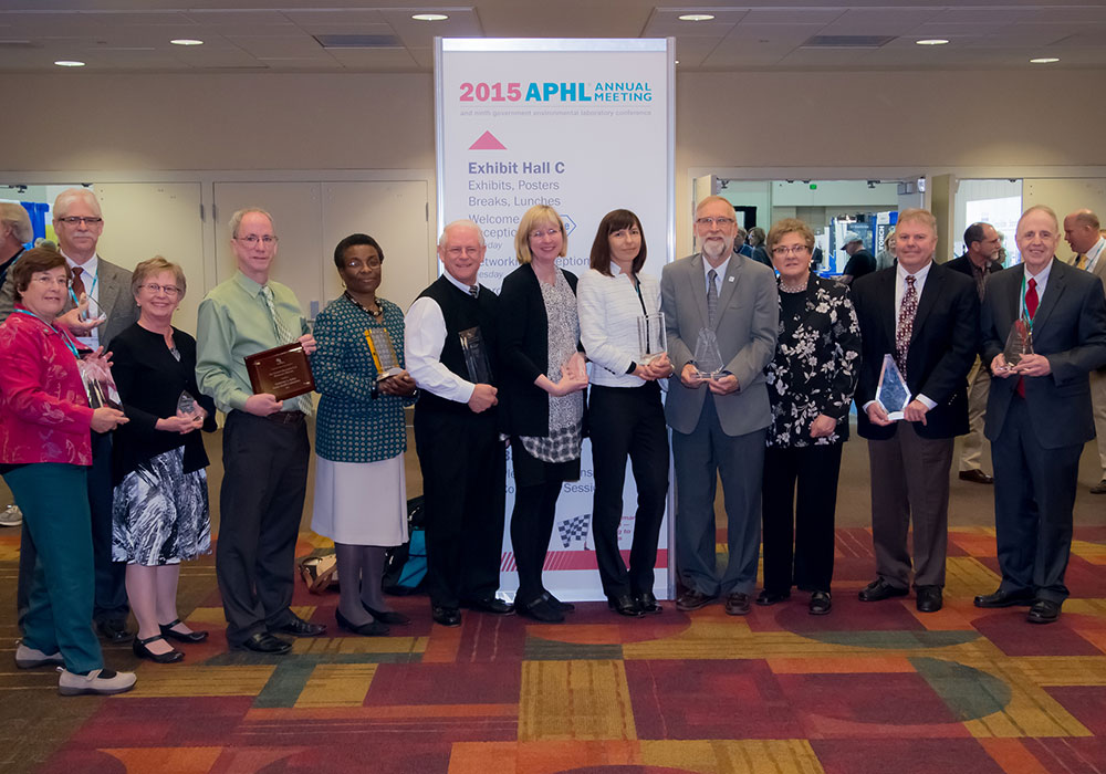 Photo of All 2014 APHL Award Winners at APHL Annual Meeting in Little Rock, Arkansas